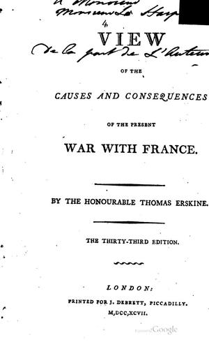Download A view of the causes and consequences of the present war with France