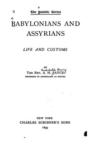 Download Babylonians and Assyrians