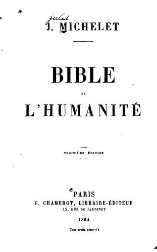 Download Bible de l'humanité.