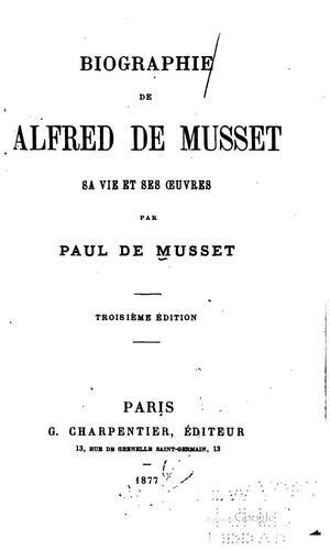 Download Biographie de Alfred de Musset