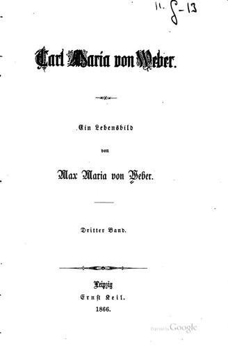 Carl Maria von Weber.