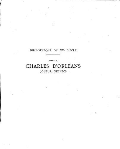 Download Charles d'Orléans, joueur d'échecs