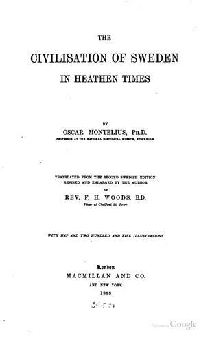Download The civilisation of Sweden in heathen times
