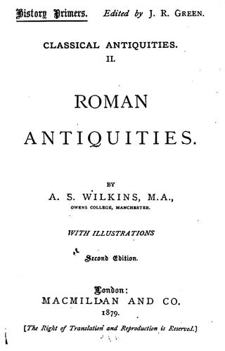Download Classical antiquities.
