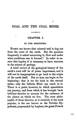 Coal and the coal mines by Homer Greene