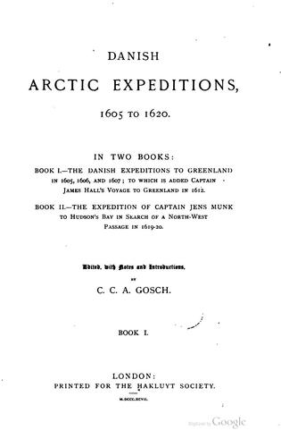 Download Danish Arctic expeditions, 1605 to 1620.