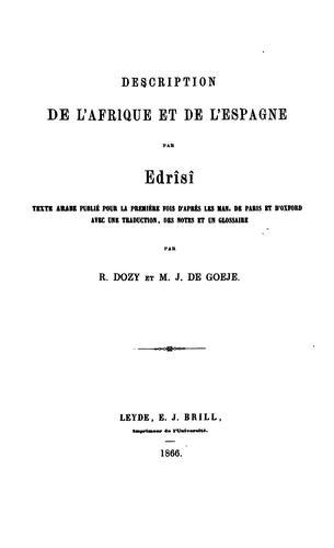 Description de l'Afrique et de l'Espagne.