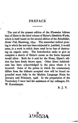 Die Hargreise von Heinrich Heine
