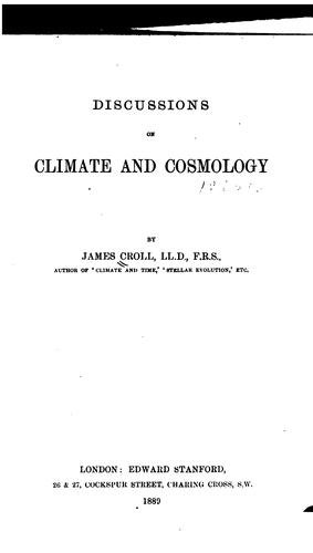 Download Discussions on climate and cosmology.