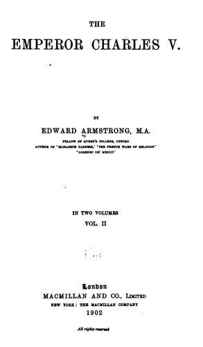 Download The Emperor Charles V.