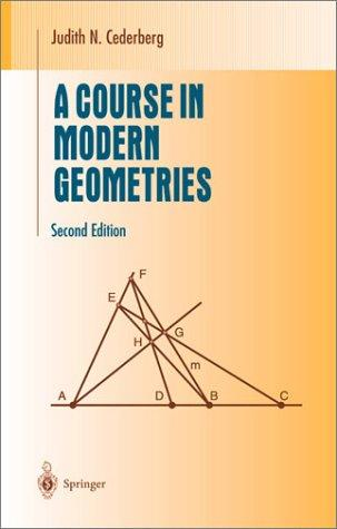 Download A course in modern geometries