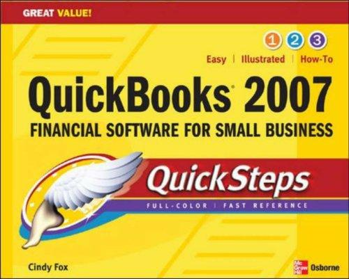 Download QuickBooks 2007 QuickSteps (Quicksteps)