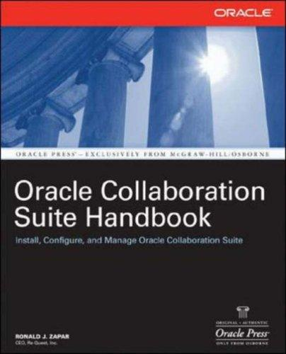 Oracle Collaboration Suite Handbook (Osborne Oracle Press)