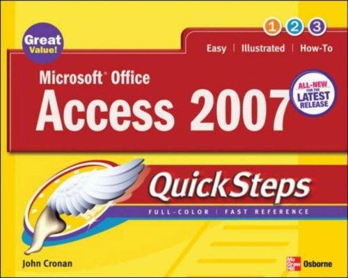 Microsoft Office Access 2007 QuickSteps (Quicksteps)