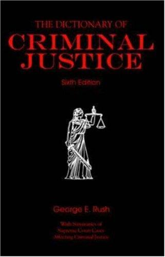 Download The dictionary of criminal justice