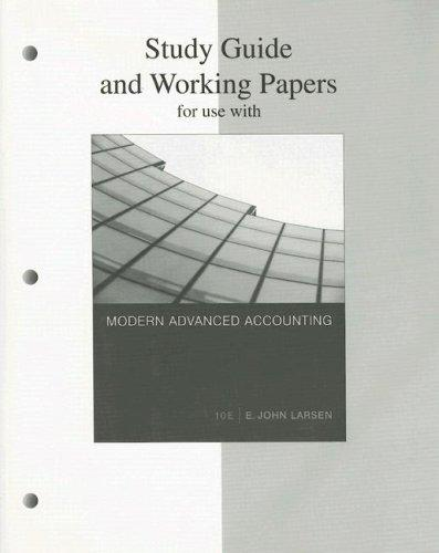 Study Guide and Working Papers for Use With Modern Advanced Accounting