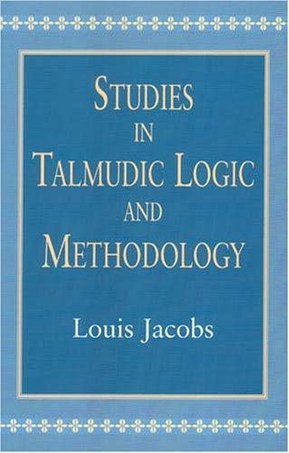 Studies in Talmudic Logic and Methodology