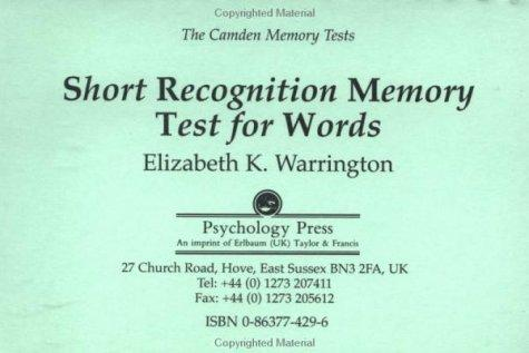 Camden Memory Tests