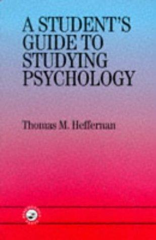 Download A student's guide to studying psychology
