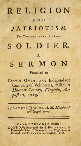 Download Religion and patriotism the constituents of a good soldier