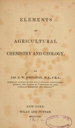 Download Elements of agricultural chemistry and geology.