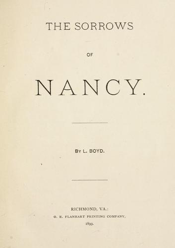 Download The sorrows of Nancy.