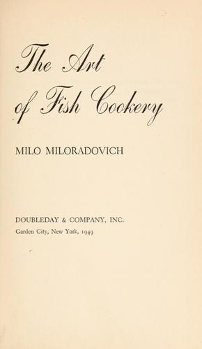 The art of fish cookery.
