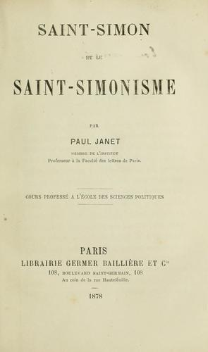 Download Saint-Simon et le saint-simonisme