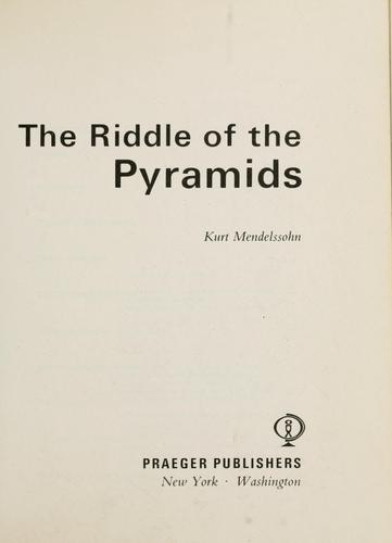 Download The riddle of the pyramids.
