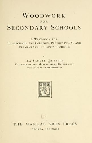 Woodwork for secondary schools