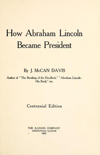 Download How Abraham Lincoln became president