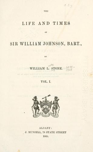 Download The life and times of Sir William Johnson, bart.