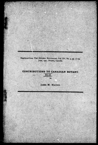 Download Contributions to Canadian botany
