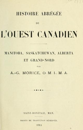 Histoire abrégée de l'ouest canadien