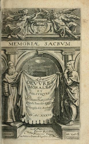 Les  oevvres morales et politiqves de Messire François Bacon.