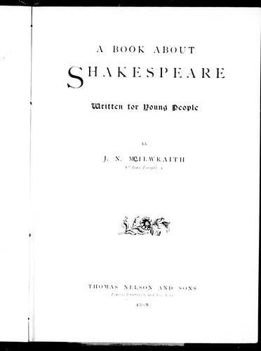 A book about Shakespeare written for young people