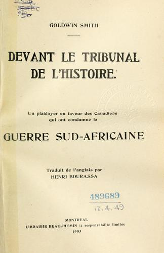 Devant le tribunal de l'histoire
