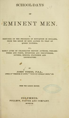 Download School-days of eminent men.