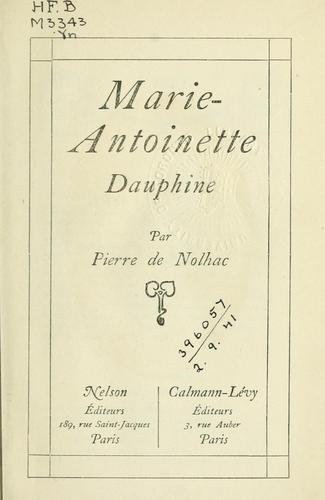 Download Marie Antoinette, Dauphine.