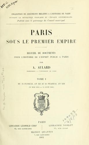 Paris sous le premier empire