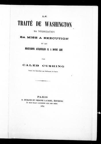 Le Traité de Washington