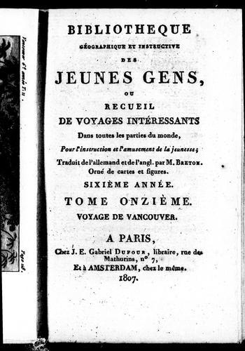 Download Voyage a l'océan-Pacifique du nord et autour du monde, de 1790 à 1795