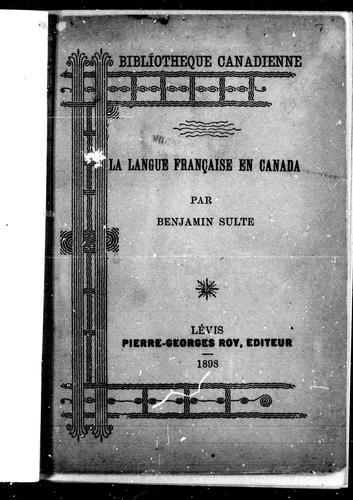 Download La langue française en Canada