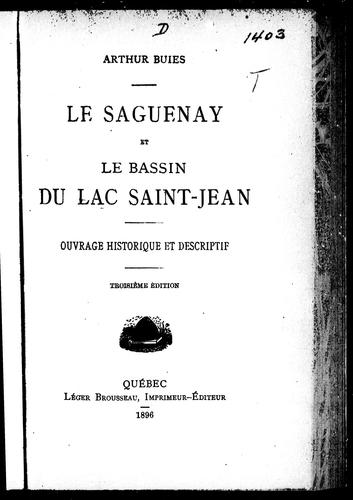 Download Le Saguenay et le bassin du Lac Saint-Jean