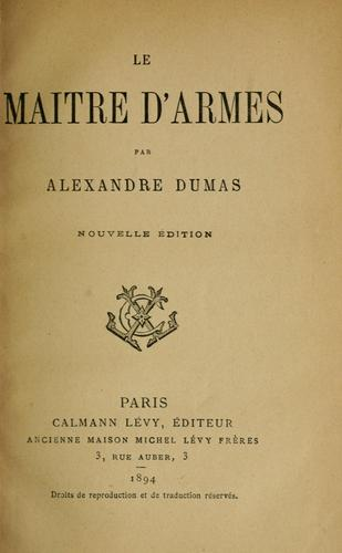 Download Le maître d'armes