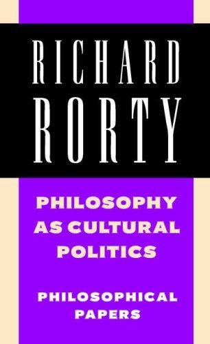 Download Philosophy as Cultural Politics