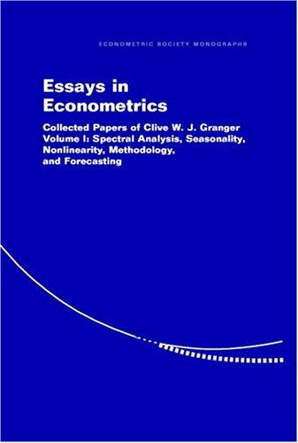 Download Essays in Econometrics