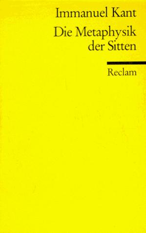 Download Die Metaphysik der Sitten.