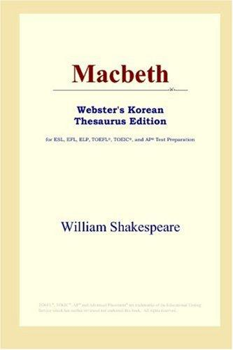 Download Macbeth (Webster's Korean Thesaurus Edition)