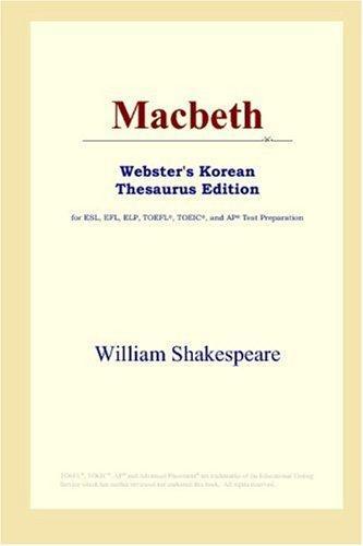Download Macbeth (Webster's Korean Thesaurus Edition)